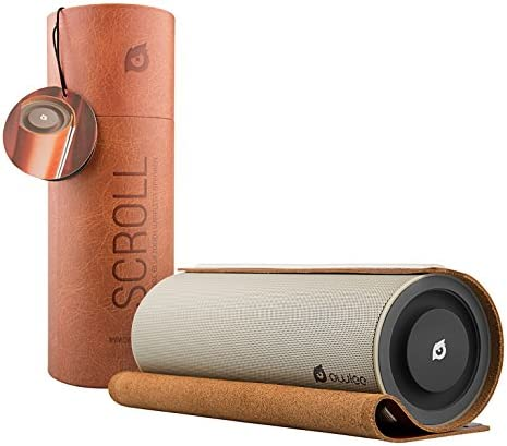 Owlee Scroll Premium Portable Bluetooth Wireless Speaker With Unique Vintage Leather Scroll Design