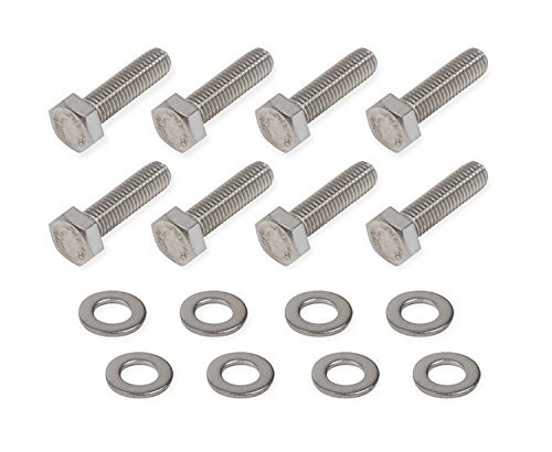 Chevrolet Camaro Mr Gasket (Mr Gasket 60900G Timing Cover Bolts Stainless Steel Hex Head Incl. Stainless Steel AN Washers Timing Cover Bolts)