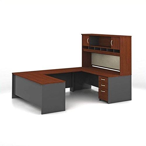Cherry Executive U-shaped Desk - 5