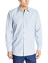 Red Kap Men's RK Industrial Stripe Work Shirt