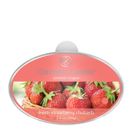 Colonial Candles Wax Candle (Colonial Candle Fresh Strawberry Rhubarb Simmer Snaps)