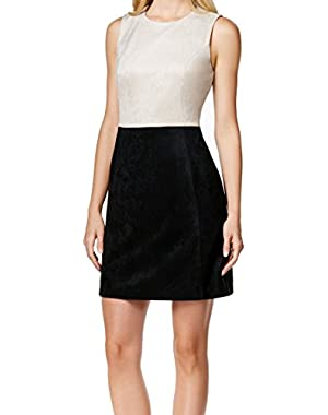 Womens Petite Faux-Suede Sheath Dress Black 10P