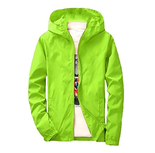 Cappotti Con Againg Esterni Vestiti Uomini Againg Bomber Svago Di Maschile Cappuccio Verde Sportiva Outwear 44Bwqtx8S