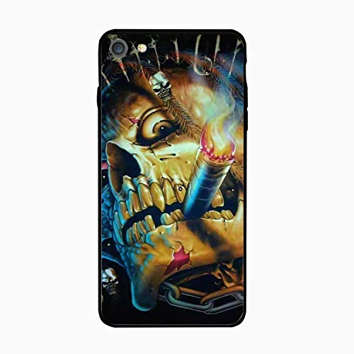 Skull Smokes iPhone 6 Case Ultra Thin Anti-Fingerprint Hard PC Back + Soft TPU Anti-Slide Cover Compatible for iPhone 6