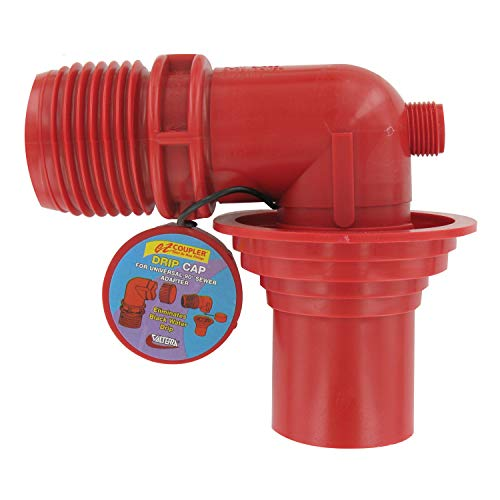 (Valterra F02-3103 Red Bulk Universal EZ Coupler Sewer Adapter)