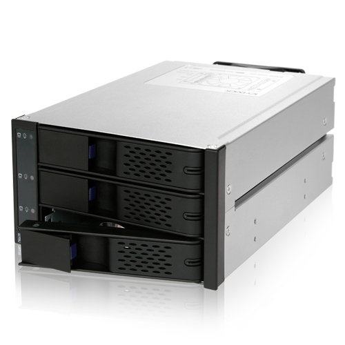 ICY DOCK FlexCage MB973SP-1B Tray-less 3x3.5'' HDD in 2x5.25'' Bay SAS / SATA Hot Swap Rack / Cage / Module