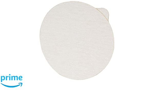 Pack of 50 Aluminum Oxide 3M NX PSA Paper Disc with Tab White 6 Diameter NX Disc P80 Grit 6 Diameter