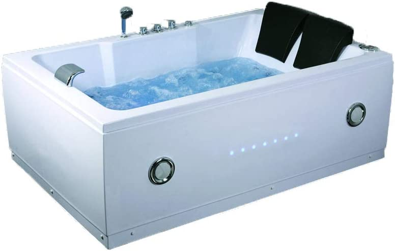 2 Two Person Indoor Whirlpool Massage Hydrotherapy White Bathtub Tub With Free Remote Control And Bluetooth Upgrade Kettle Symbolic Spas Amazon De Baumarkt