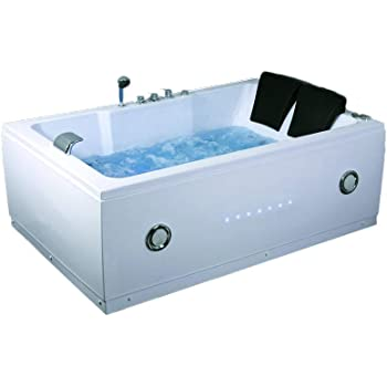 2 Two Person Indoor Whirlpool Massage Hydrotherapy White