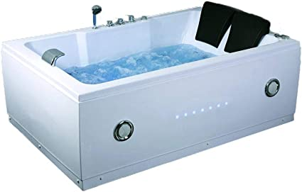 Sdi Factory Direct 2 Person Indoor Jetted Hot Tub Spa Hydrotherapy Massage Bathtub W Bluetooth Model 51a Garden Outdoor