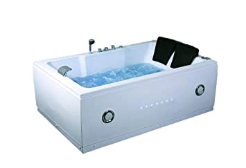 2 Two Person Indoor Whirlpool Massage Hydrotherapy White Bathtub Tub