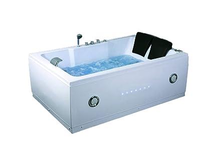 2 Dos Personas interior Whirlpool Masaje Hidroterapia Blanco Bañera Bañera Incluye control remoto y calentador de