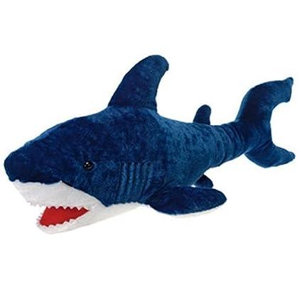 Amazon Com Fiesta Toys Large Blue Shark Plush Stuffed Animal Toy