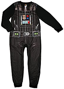 Star Wars Darth Vader Boys One Piece Sleeper Fleece Pajama