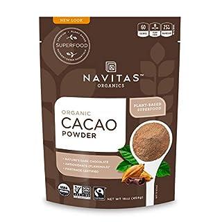 Navitas Organics Cacao Powder, 16 oz. Bags (Pack of 2) - Organic, Non-GMO, Fair Trade, Gluten-Free (B001E5E0Y2) | Amazon price tracker / tracking, Amazon price history charts, Amazon price watches, Amazon price drop alerts