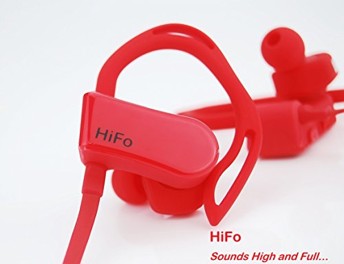 Hifo Heartbeat Sports Bluetooth Earphone With Sports App  Heart Rate Monitor  Pedometer  Map Gps Tracking  Noise Cancelation  Battery Status  Red