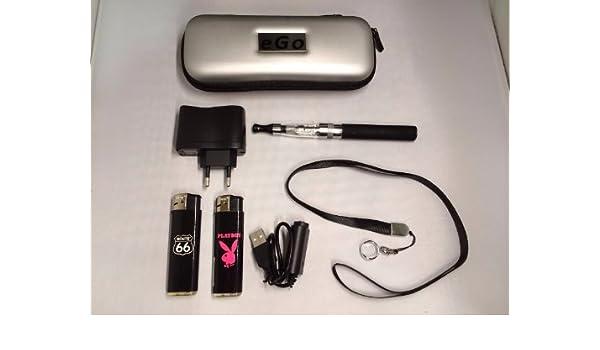 Estuche negro, Kit completo: (vapeador) cigarrillo electrónico negro eGo-T CE4+ 900mAh + golgante + regalos: Route66 y Playboy mecheros. producto (productos) está exento (sin) nicotina y tabaco.: Amazon.es: Salud y cuidado personal