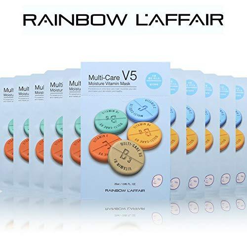 L'AFFAIR Face Mask Sheet Korean Skin Care, 'Moisturizing' -10 Masks-