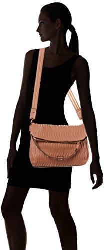 Nica Damen Yumi Schultertasche, 10x23x30.5 cm Pink (Almond Quilt)