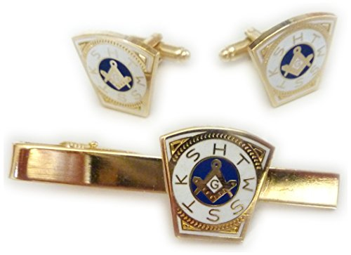 (Order of the Holy Royal Arch Freemason Masonic TIE BAR CLIP CUFFLINKS)