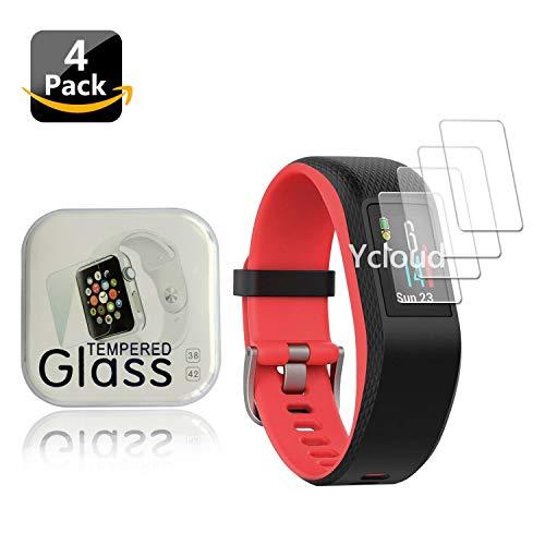 Ycloud [4 Stück Panzerglas Folie Schutzfolie Displayschutzfolie für Garmin vívosport GPS-Fitness-Tracker Smartwatch mit…