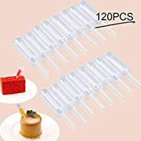 Cupcakes Pipettes, Moveland 120PCS 4 ml Plastic Pipettes Squeeze Dropper Liquid Injector for Strawberries, Cupcake, Chocolate