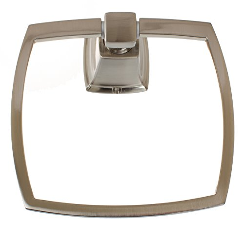 GlideRite Avalon Collection Bathroom Hardware Towel Ring 8402-BN (Towel Ring, Brushed Nickel)