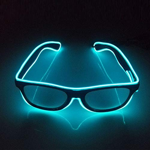 Glaray Light Up LED Glasses Novelty Luminous Glasses Adjustable EL Wire Neon Rave Eyeglasses