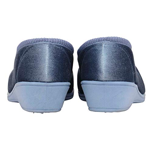 Pantoufles Dunlop Antoinette Myrtille Bleu Femmes xv06rwx