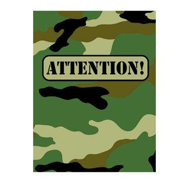 Camouflage Invitations 8ct -
