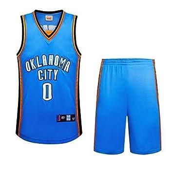 Jerseys de Baloncesto for Hombre NBA Thunder No. 0 Westbrook Fan ...