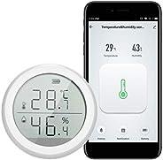 Termômetro Digital WiFi, Termômetro Higrômetro, Sensor de temperatura de umidade inteligente Medidor com Alexa