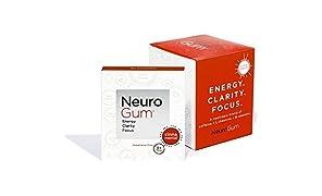 NeuroGum Nootropic Cinnamon Flavor Energy Gum | Caffeine + L-theanine + B Vitamins | Sugar free + Gluten free + Non GMO + Vegan | CinnaMental Flavor (54 Count)