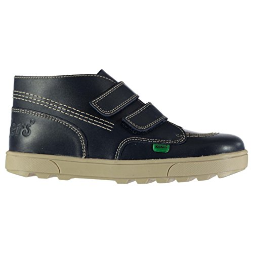 Kickers Kids Strap Classic Boots Unisex Childs Casual Shoes Touch and Close Dark Blue UK 2 (34) - Kickers Shoes Boots