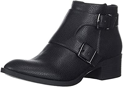 Kenneth Cole REACTION Women's Re-Buckle Moto Ankle Boot, Black, 10 M US