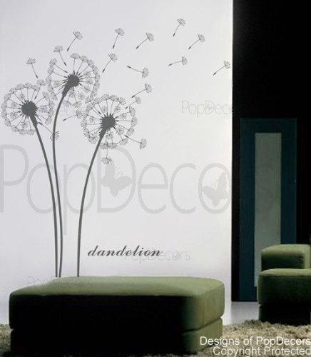 Custom Color PopDecors – Dandelions – removable vinyl art wall decals stickers decal sticker mural, Baby & Kids Zone