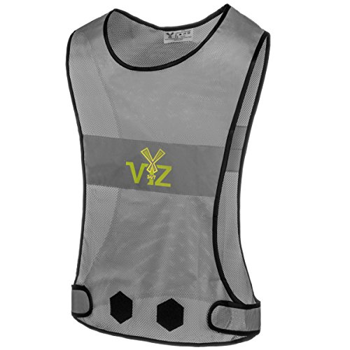 247 Viz Blaze Reflective Vest 360 - Bee Seen from All Angles While Running, Walking Jogging, Cycling and On a Motorcycle, High Visibility Reflective Gear (XL)