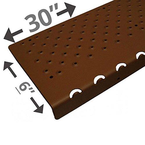 - Handi-Treads Non Slip Aluminum Stair Nosing, Powder Coated Brown, 6