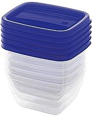 Kis Container-Set Vedo 5x0,25 L in Transparent-Blue, 10.5 x 8.5 x 11.5 cm