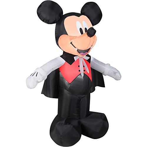 5 Ft Tall Mickey Mouse Dressed as Vampire Light Up Halloween Airblown Inflatable (Mickey Mouse Inflatable Halloween)