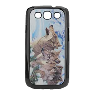 MaxSale 3D Stereoscopic Wild Wolves Pattern Cover for Samsung Galaxy S3 I9300