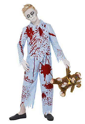Smiffy's Children's Zombie Pyjama Boy Costume, Top & Trousers, Ages 10-12,