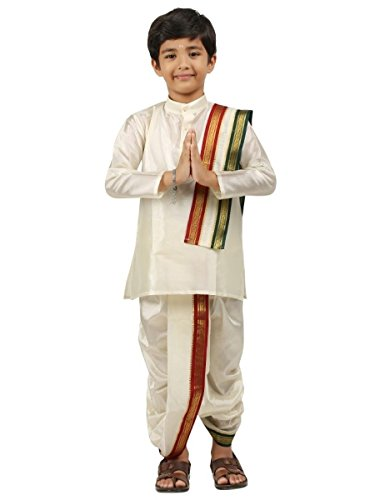 Kurta Dhoti (Kids-Boys-Kurta-Dhoti-Set-Indian-Ethnic-Cultural-Fancy-Party-Dress-Cotton-)