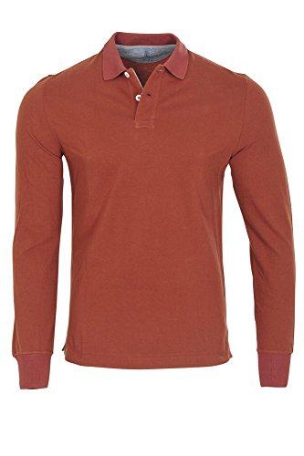 Brunello Cucinelli Polo Poloshirt Herren Sienna Regular Fit Baumwolle Casual 48