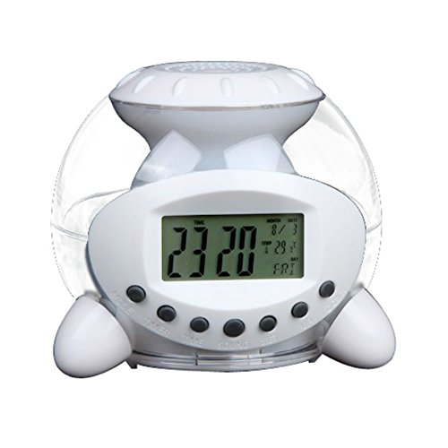Multi-function Natural Sound Alarm Clock 7 Color Calendar Temperature Clock (Target Wall Calendar compare prices)