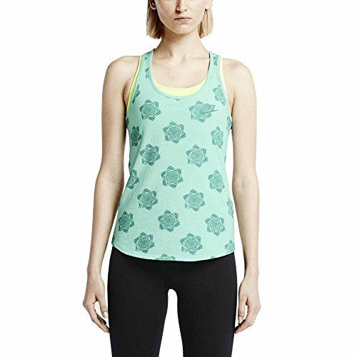 (Nike Women's Run Floral Running Tank Top-Teal-XL)