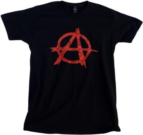 ANARCHY DISTRESSED SYMBOL Unisex T-shirt / Anarchist, Punk, Riot, Disorder Tee