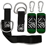 Tree Swing 3FT Straps Bundle by Wave-Energy – Easy Installation Tree Swing Hanging Kit – Perfect for Child Swing, Circle Swing, Hammock, Swing Sets + More – PLUS BONUS Tree Saver Tree Protector Tubes