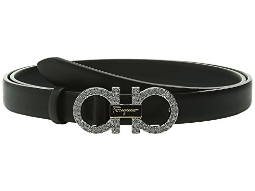 Salvatore Ferragamo Women's Crystal Double Gancini Belt Nero 90 (36'' Waist) by Salvatore Ferragamo