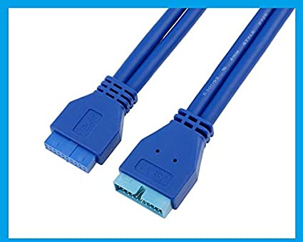 Computer Cables USB 3.0 20pin Male to Male Male to Female Female to Female Motherboard Cable 50cm for Asus Gigabyte Msi Onda Inte DELL HP Lenovo Cable Length: 50cm, Color: Male to Male